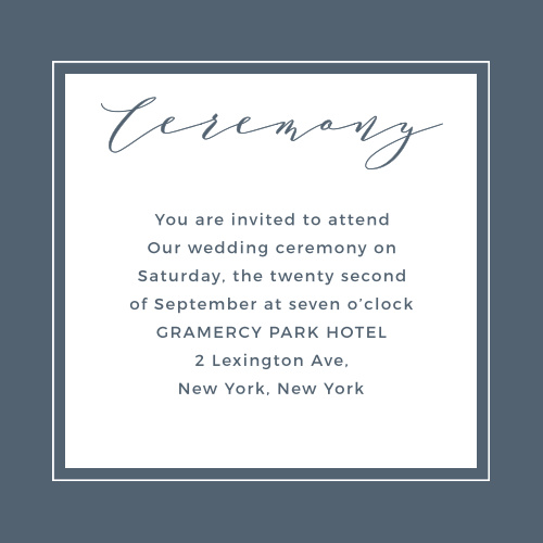 Oil Paint Textured Ceremony Cards