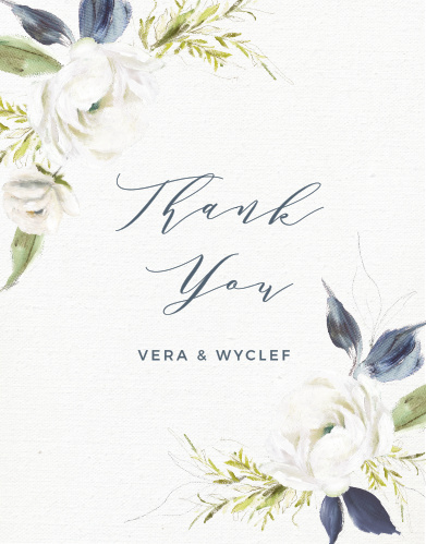 Oil Paint Textured Wedding Thank You Cards
