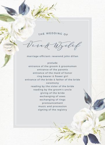 Oil Paint Textured Wedding Programs