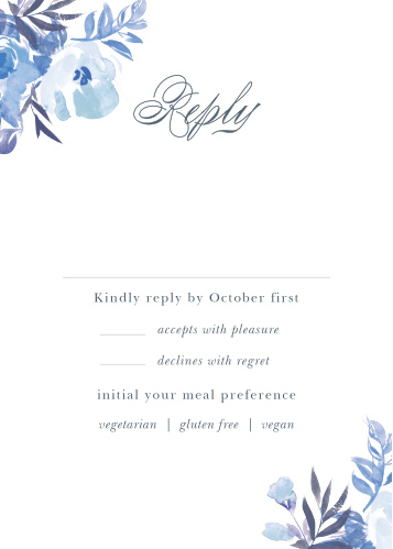 Comely Wildflowers Response Cards