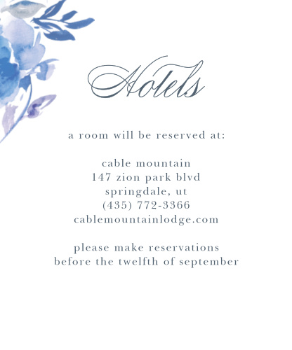 Comely Wildflowers Accommodation Cards