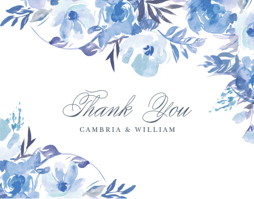 Comely Wildflowers Thank You Cards