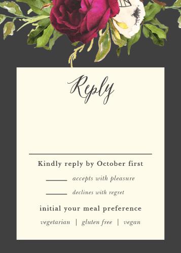 Garden Romance Response Cards