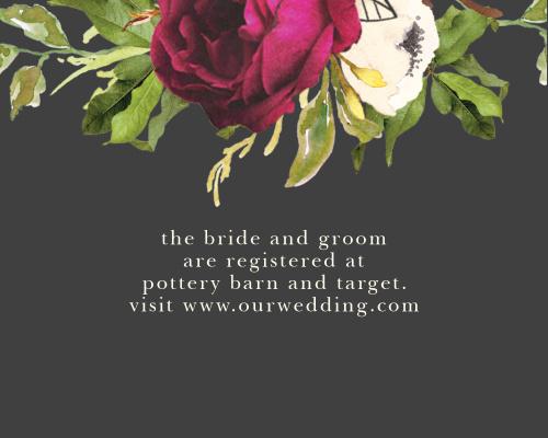 Garden Romance Registry Cards