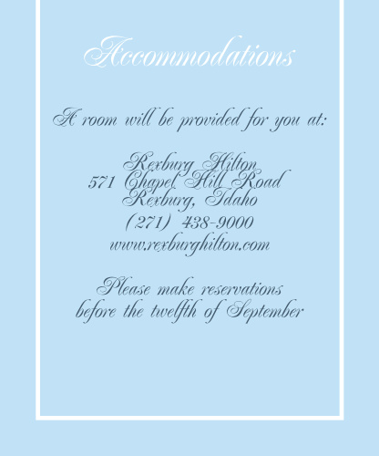 Simple Border Accommodation Cards