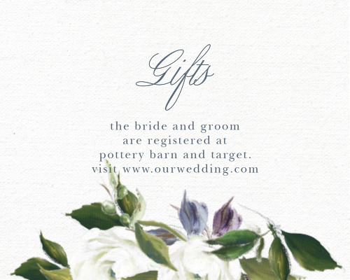 Elegant Aristocrat Registry Cards