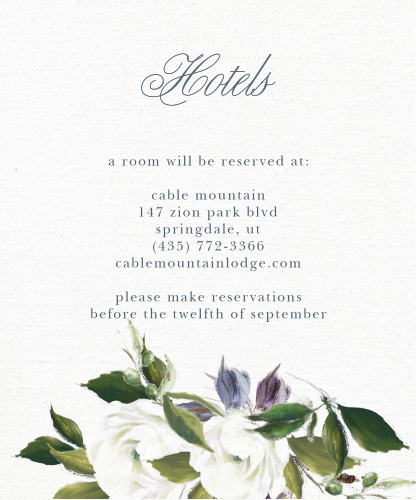 Elegant Aristocrat Accommodation Cards