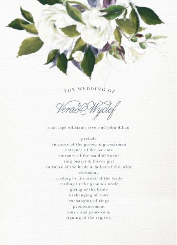 Elegant Aristocrat Wedding Programs