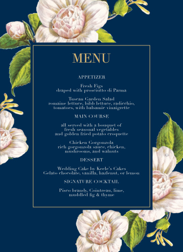 Garden Wedding Menus - Match Your Color & Style Free! on sanctuary garden design, valentine garden design, night garden design, moon garden design, landscape garden design,