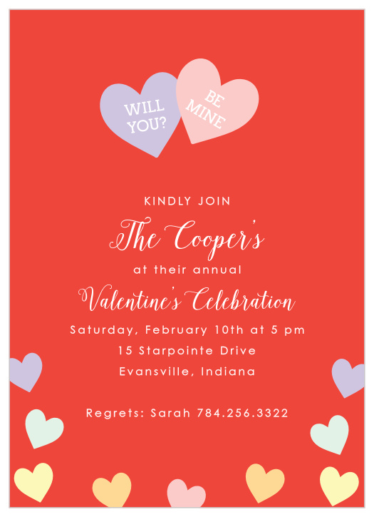 Valentine S Day Party Invitations Match Your Color Style Free Basic Invite
