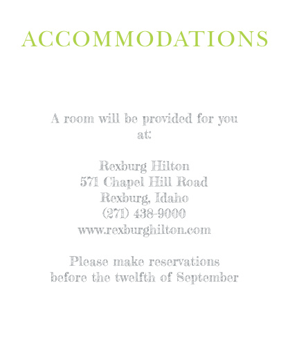 Sophisticated Photo Accommodation Cards