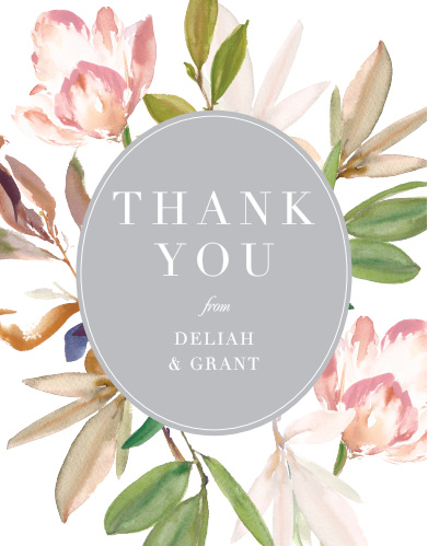 Darling Watercolor Wedding Thank You Cards