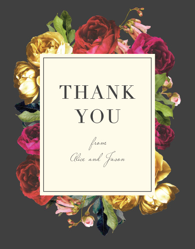 Rose Floristry Thank You Cards