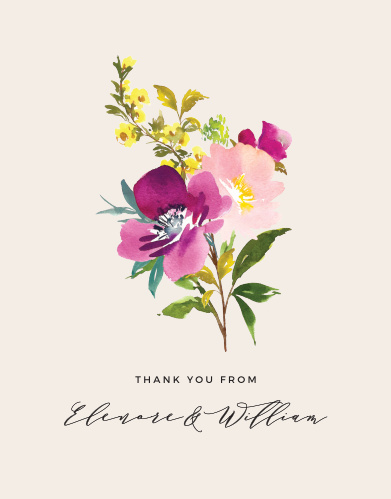 Mallow Wedding Thank You Cards