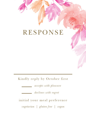 Water Rose Response Cards