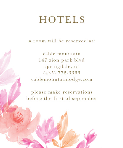 Water Rose Accommodation Cards