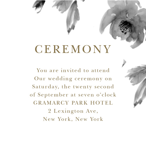 8a4310e1ef24 Wedding Reception Cards and Wedding Ceremony Cards by Basic Invite