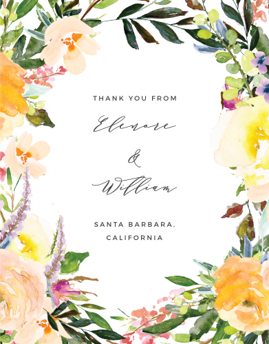 Willow Wreath Wedding Thank You Cards