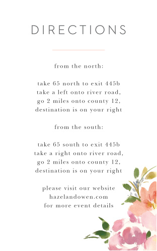 Floral Felicity Direction Cards