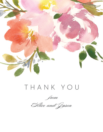 Floral Felicity Wedding Thank You Cards