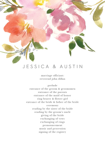 Floral Felicity Wedding Programs