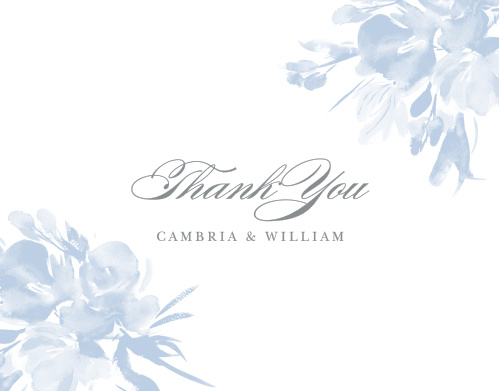 Subtle Fleuriste Wedding Thank You Cards