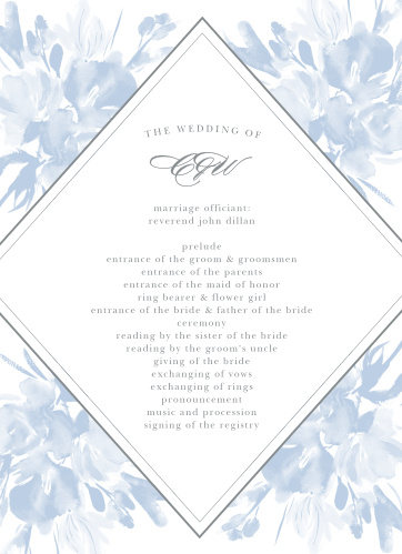 Subtle Fleuriste Wedding Programs