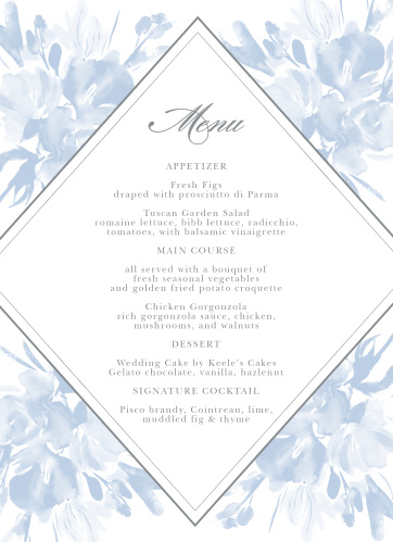 Subtle Fleuriste Wedding Menus