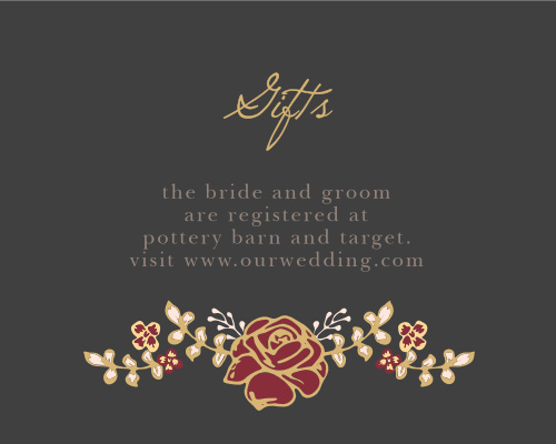 Opulent Floweret Foil Registry Cards