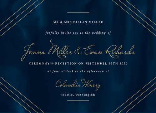 Indigo Infatuation Wedding Invitations