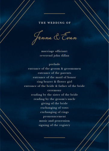 Indigo Infatuation Wedding Programs