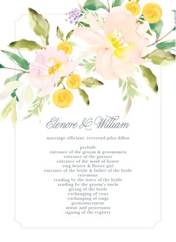 Melodious Melanie Wedding Programs
