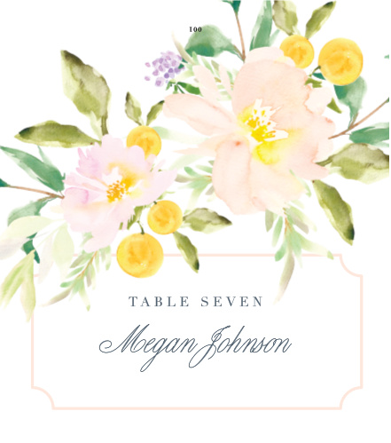 Melodious Melanie Place Cards