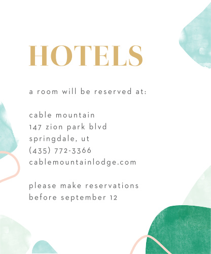 Sea Breeze Collage Accommodation Cards