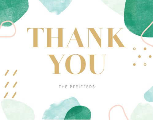 Sea Breeze Collage Wedding Thank You Cards