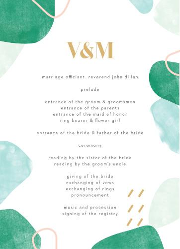 Sea Breeze Collage Wedding Programs