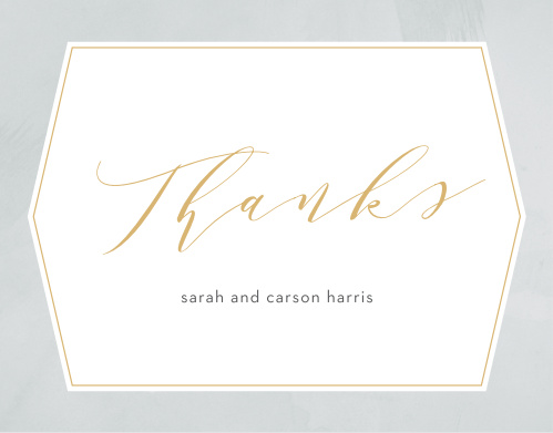Blushing Love Wedding Thank You Cards