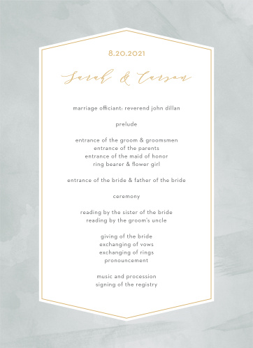 Blushing Love Wedding Programs