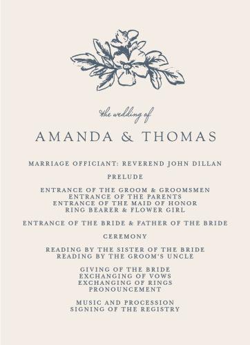 Soft Morning Wedding Programs