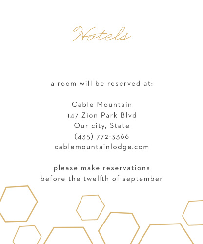 Geometric Watercolor Accommodation Cards