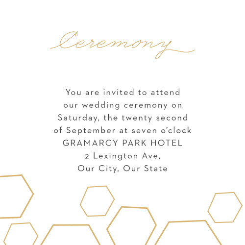 Geometric Watercolor Ceremony Cards