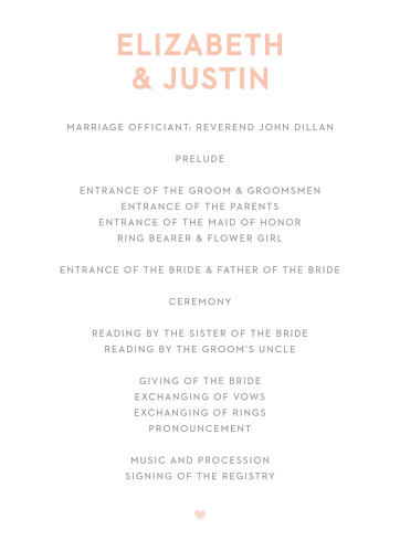 Wooden Love Wedding Programs