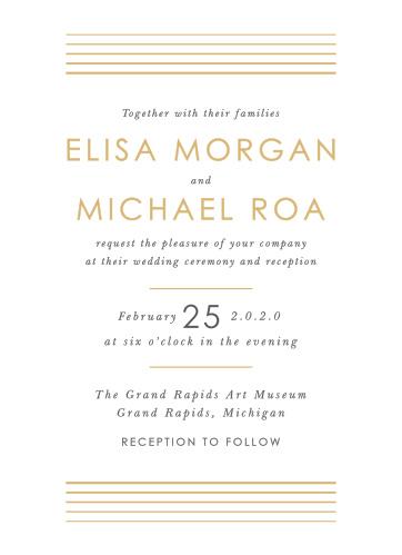 Foil Stamped Wedding Invitations Gold Silver Rose Gold Basic