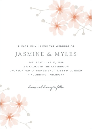 Delicate Daisies Wedding Invitations