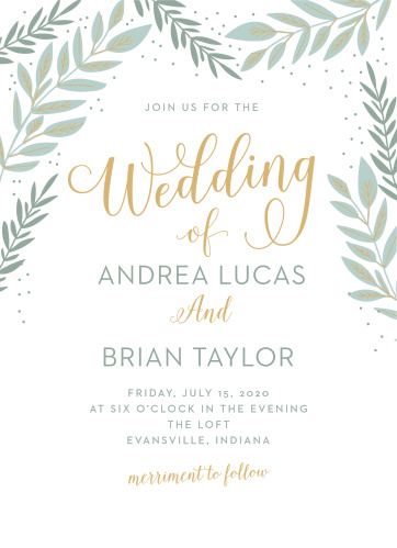 graceful garden wedding invitations