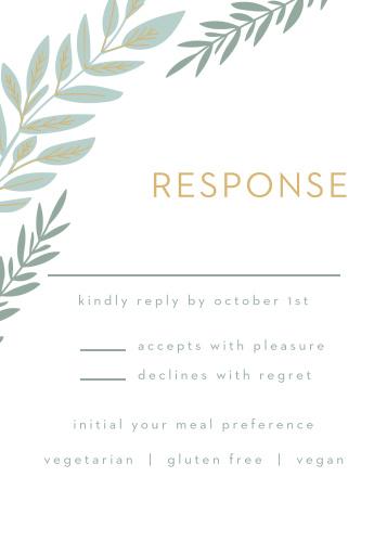 Graceful Garden Response Cards