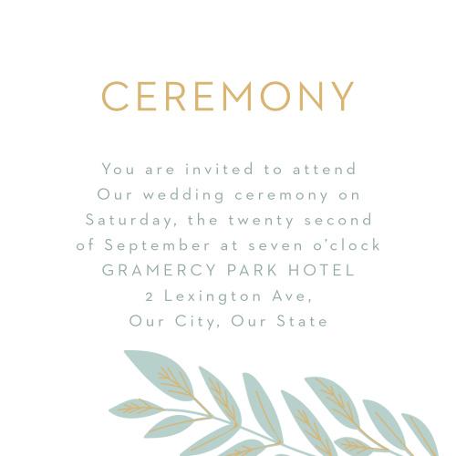 Graceful Garden Ceremony Cards