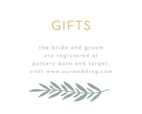 Graceful Garden Registry Cards