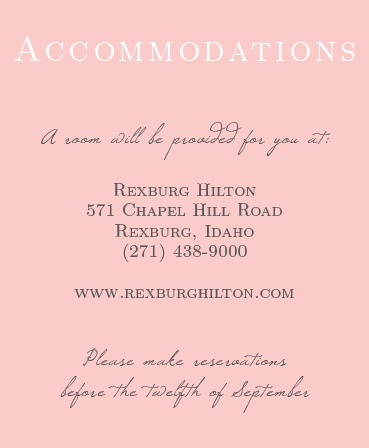 The Illustrated Rose Accommodation Cards