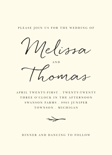 formal wedding invitations match your color style free